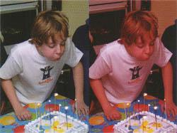 Баланс белого для искусственного освещения (слева) и для дневного освещения (справа).